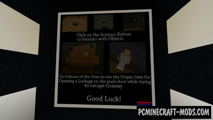 minecraft granny horror map download