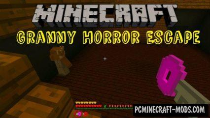 Granny Horror Escape Minecraft PE Map 1.4.0, 1.2.16, 1.2.13