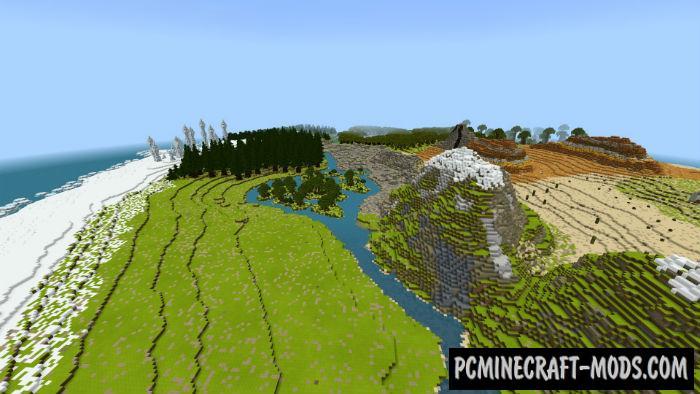Island of Four Seasons Minecraft PE Map 1.9.0, 1.8.0, 1.7