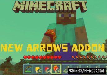 New Arrows Minecraft PE Addon 1.9.0, 1.8.0, 1.7.0