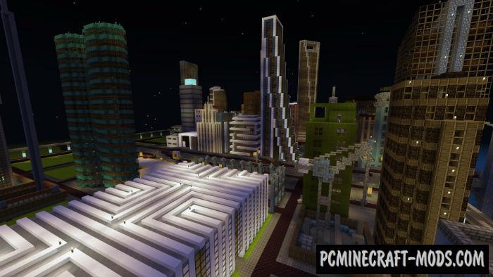 Pocket City Minecraft PE Map iOS/Android 1.9.0.0, 1.8.0, 1.7
