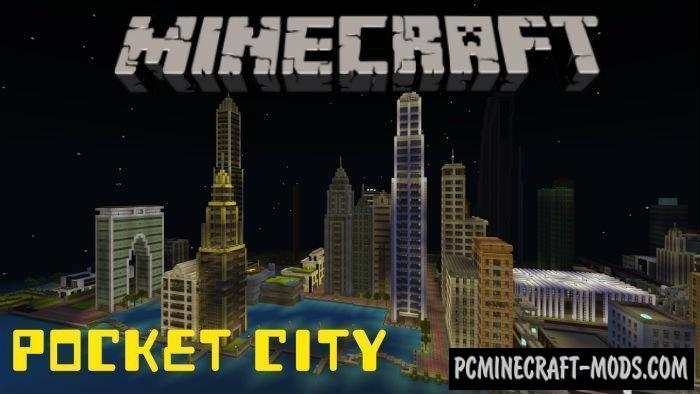 Pocket City Minecraft PE Map iOS/Android 1.9.0.0, 1.8.0, 1.7