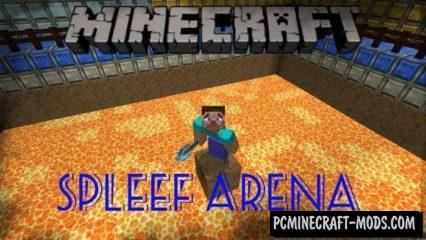 Spleef Arena Mini-Game Minecraft PE Map 1.5.3, 1.4.0, 1.2.16
