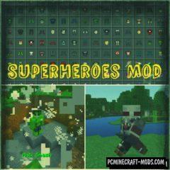 SuperHeroes Of Marvel Minecraft PE Mod 1.4.0, 1.2.13