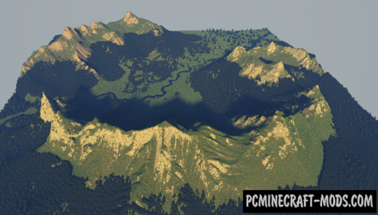 Peaceful Mountain Valley Map For Minecraft