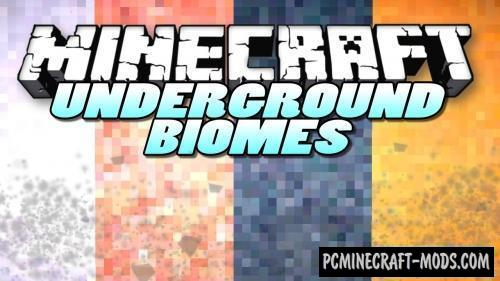 Underground Biomes - New Biomes Mod For Minecraft 1.14.4, 1.12.2