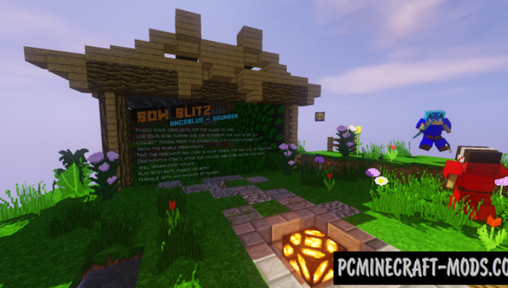 Bow Blitz Map For Minecraft