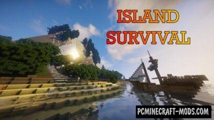 Island Survival Map For Minecraft