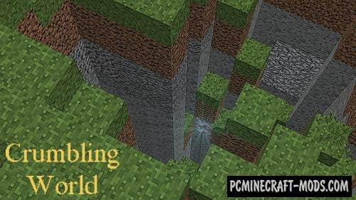 Crumbling World Command Block For Minecraft 1.12.2