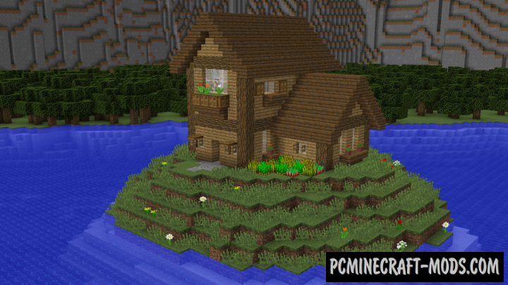 Cliffside Wooden Mansion Map For Minecraft