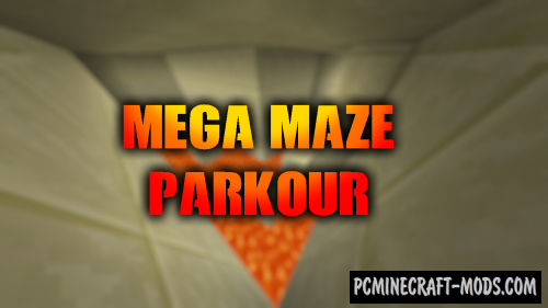 Mega Maze Parkour Map For Minecraft