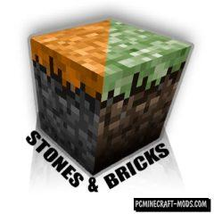 Stones & Bricks - Decorative Mod For Minecraft 1.12.2