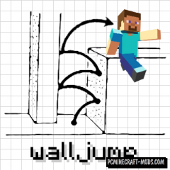 Wall-Jump! - Parkour Mod For Minecraft 1.15.2, 1.14.4