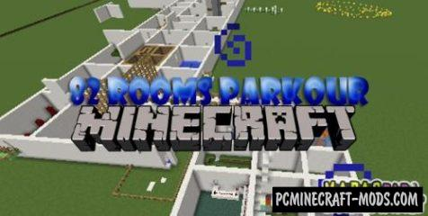 82 Rooms Parkour Map For Minecraft
