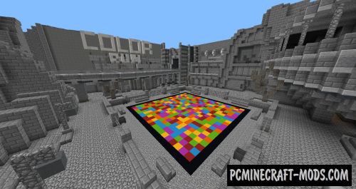 Color Run Map For Minecraft
