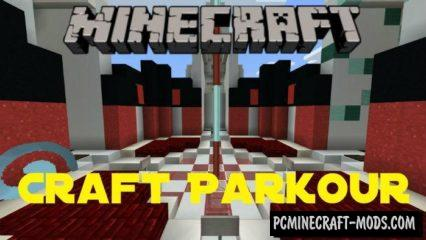 Craft Parkour Minecraft PE Bedrock Map 1.6.0, 1.5.3, 1.4.4