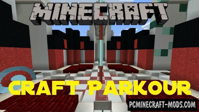 Craft Parkour Minecraft PE Bedrock Map 1.9.0, 1.8, 1.7