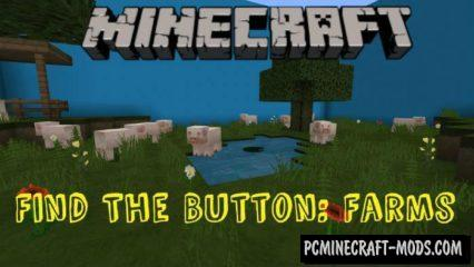 Find the Button: Farms Minecraft PE Map 1.6, 1.5, 1.4