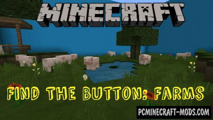 Find the Button: Farms Minecraft PE Map 1.9, 1.8, 1.7