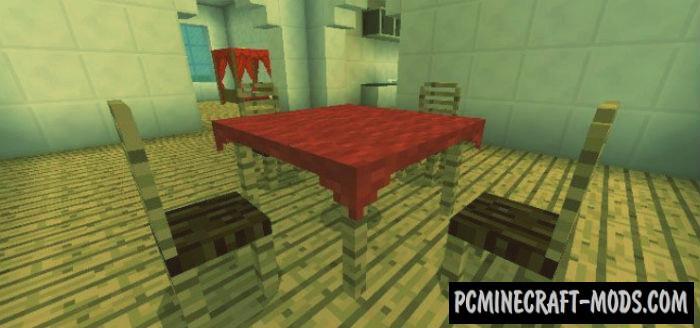 Furnicraft Minecraft PE Bedrock Mod 1.6.0, 1.5.3