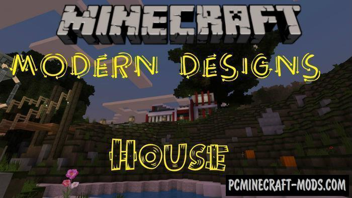 House with Modern Designs Minecraft PE Map 1.9.0, 1.8, 1.7