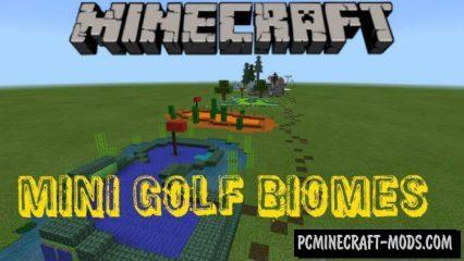 Mini Golf Biomes Minecraft PE Bedrock Map 1.6.0, 1.5.3, 1.4.4