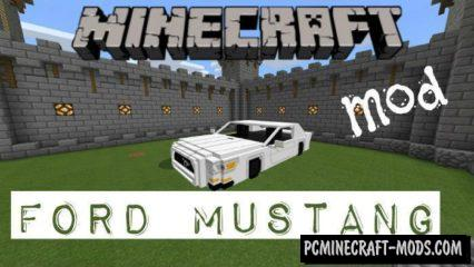 New Vehicle: Ford Mustang Minecraft PE Mod 1.4.2, 1.2.13