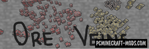 Realistic Ore Veins - Generation Mod For MC 1.15.2, 1.14.4