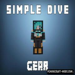 Simple Diving Gear - Armor Mod For Minecraft 1.16.5, 1.12.2