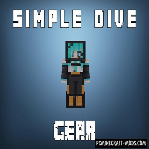 Simple Diving Gear Mod For Minecraft 1.12.2