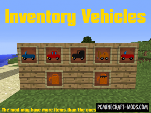 Inventory Vehicles Mod For Minecraft 1.12.2