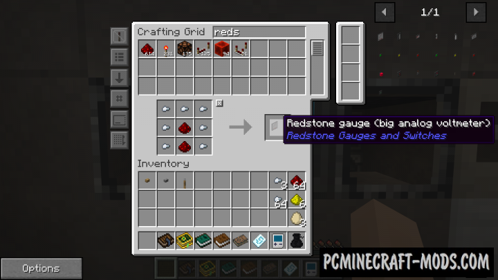 Redstone Gauges and Switches - Tech Mod 1.16.5, 1.12.2