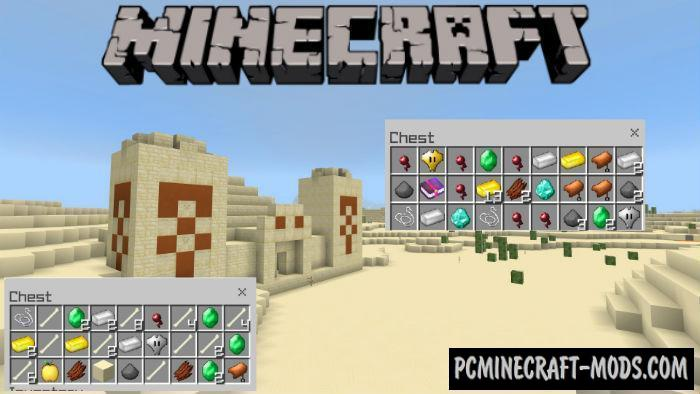 New Treasures Minecraft PE Bedrock Mod 1.9.0, 1.8.0, 1.7.0
