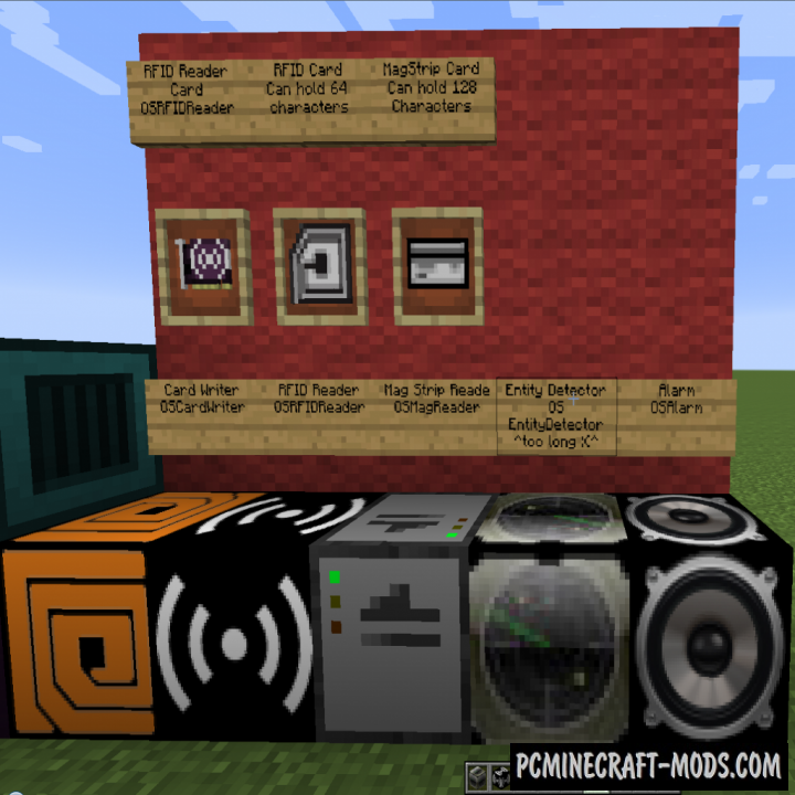 OpenSecurity Mod For Minecraft 1.12.2, 1.10.2, 1.7.10