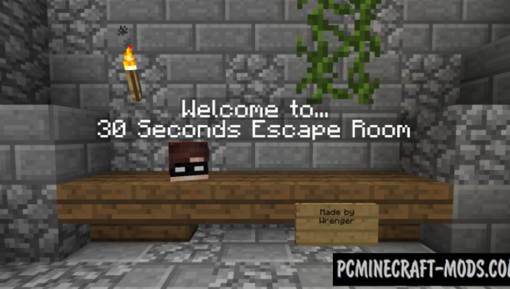 30 Seconds Escape Room Map For Minecraft