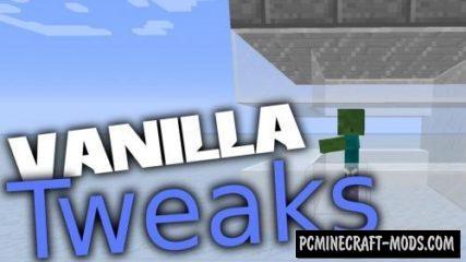Vanilla Tweaks Mod For Minecraft 1.12.2, 1.11.2, 1.10.2