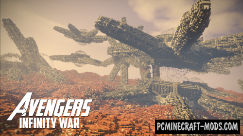Avengers: Infinity War - Titan Map For Minecraft 1 15, 1 14