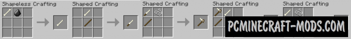 Survival Additions - Weapons, Tools Mod For MC 1.14.4, 1.12.2