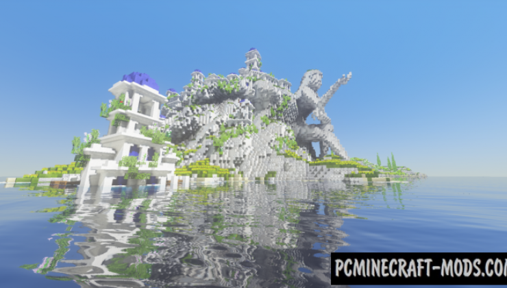 The Mountain and The Village Map For Minecraft