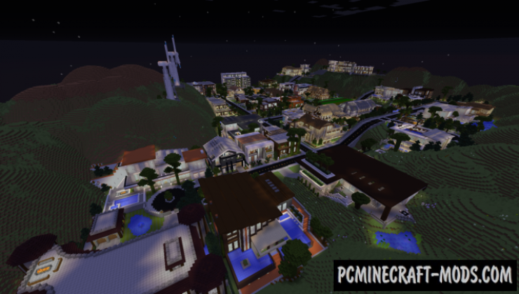 Valley Hills Estates Map For Minecraft