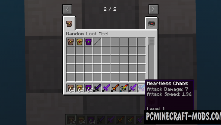 Random Loot - Weapons Mod For Minecraft 1.16.5, 1.12.2