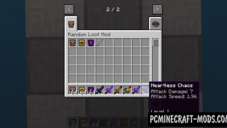 Random Loot Mod For Minecraft 1.12.2