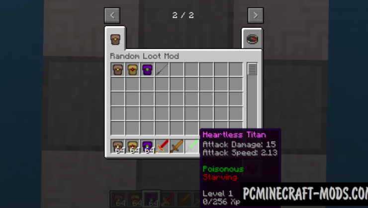 Random Loot - Weapons Mod For Minecraft 1.16.3, 1.12.2