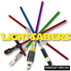 Glowing Lightsabers in 3D Resource Pack For Minecraft 1.13, 1.12.2, 1.12.1