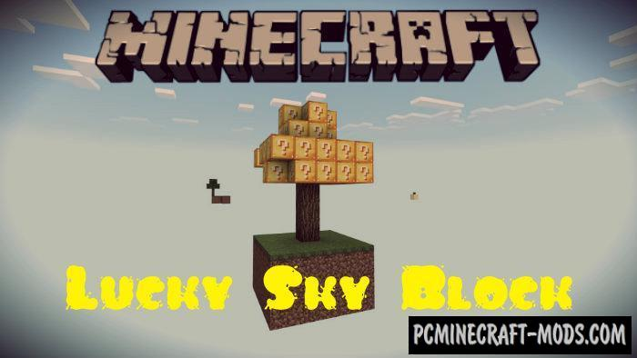 Lucky Skyblock Survival Minecraft PE Map 1.9.0, 1.8, 1.7