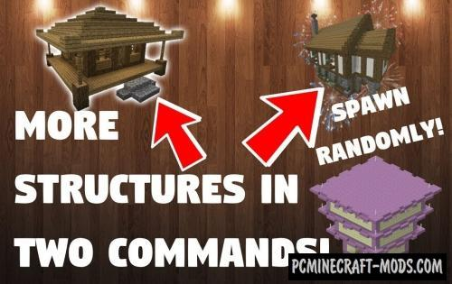 More Structures Command Block For Minecraft 1.12.2