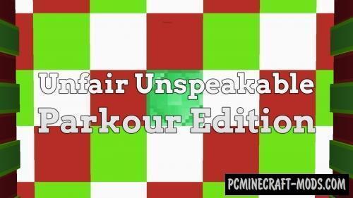 Unfair Unspeakable - Parkour Edition 2 Map For Minecraft