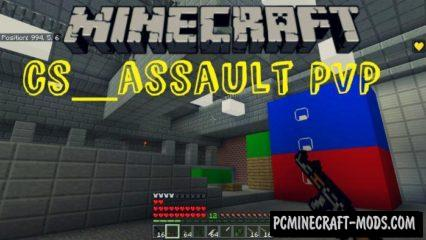 cs_assault PVP Map For Minecraft PE 1.9.0, 1.8.0, 1.7