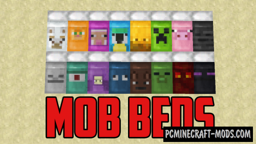 Mob Beds! Resource Pack For Minecraft 1.13, 1.12.2