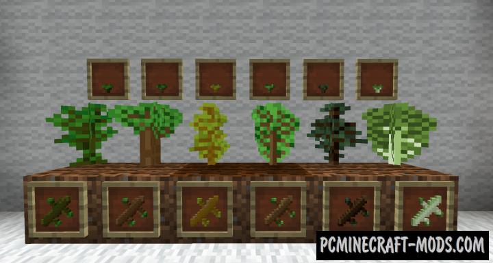 Bonsai Tree Crops Mod For Minecraft 1.12.2, 1.10.2